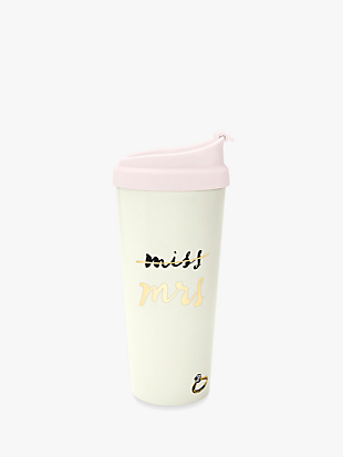 """miss to mrs"" thermal mug by kate spade new york non-hover view"