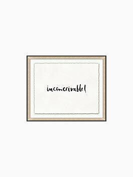 inconceivable, black, cream, medium