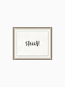 stella framed print, black, cream, medium