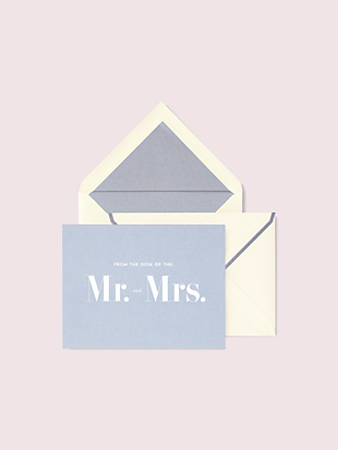 """mr. & mrs."" thank you card set by kate spade new york non-hover view"
