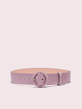 44mm suede belt, orchid, medium