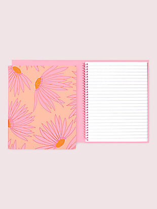 falling flower concealed-spiral notebook by kate spade new york hover view