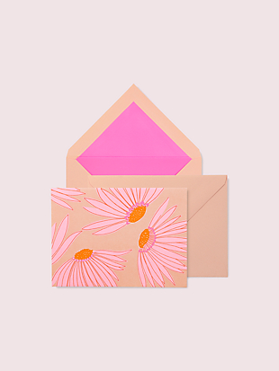 falling flower notecard set by kate spade new york hover view
