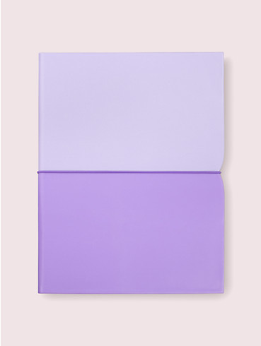 Fliederfarbenes Notizblock-Folio mit dekorativer Einkerbung, , rr_productgrid