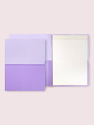 lilac plunge notepad folio by kate spade new york hover view