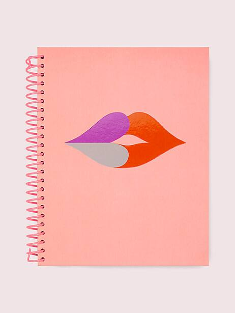 heart lips spiral notebook by kate spade new york