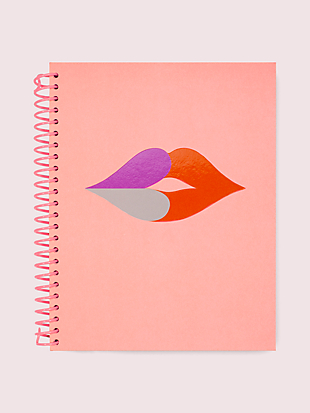 heart lips spiral notebook by kate spade new york non-hover view