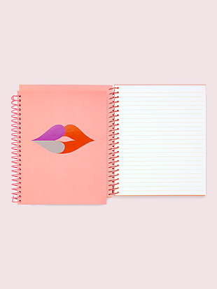 heart lips spiral notebook by kate spade new york hover view