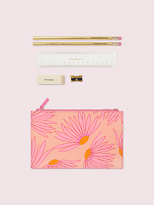falling flower pencil pouch by kate spade new york hover view