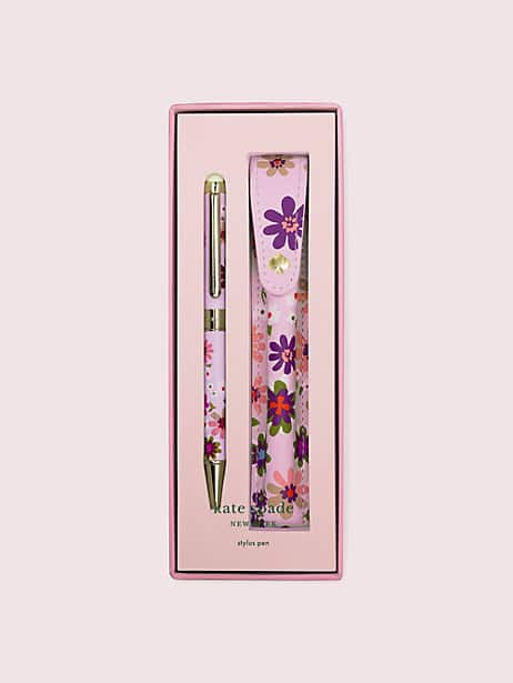 pacific petals stylus pen with pouch by kate spade new york