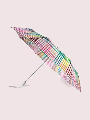 rainbow gingham travel umbrella by kate spade new york non-hover view
