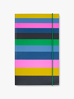 enchanted stripe take note large notebook by kate spade new york non-hover view