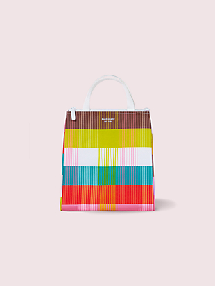 rainbow plaid lunch bag by kate spade new york non-hover view