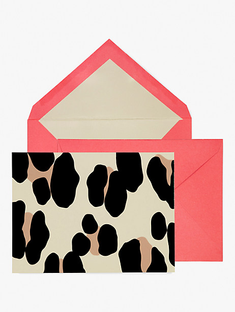 forest feline notecard set by kate spade new york