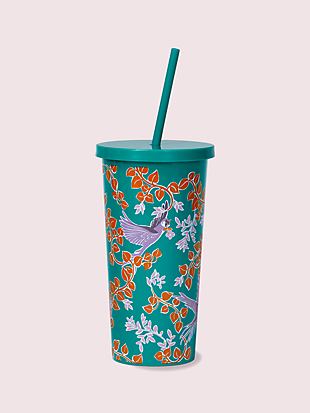 bird party tumbler with straw by kate spade new york non-hover view