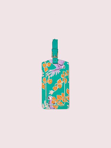 bird party luggage tag by kate spade new york