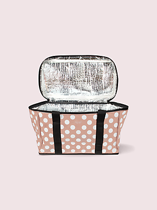 jumbo dot cooler bag by kate spade new york hover view