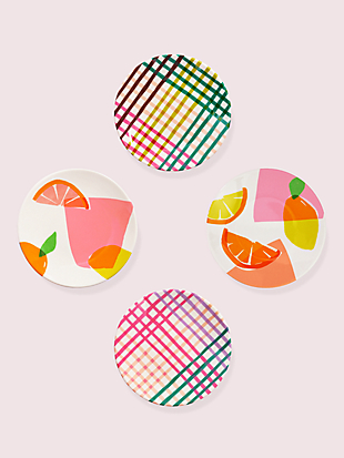 citrus celebration tidbits plate set by kate spade new york non-hover view
