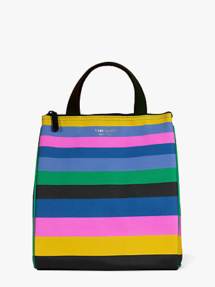 enchanted stripe lunch bag by kate spade new york non-hover view