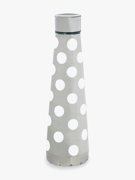 white dot stainless steel water bottle by kate spade new york