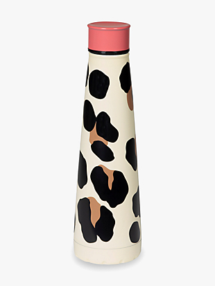 forest feline stainless steel water bottle by kate spade new york hover view
