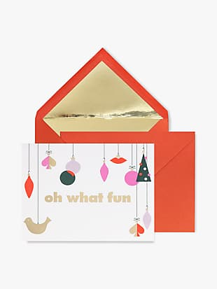 oh what fun holiday card set by kate spade new york non-hover view