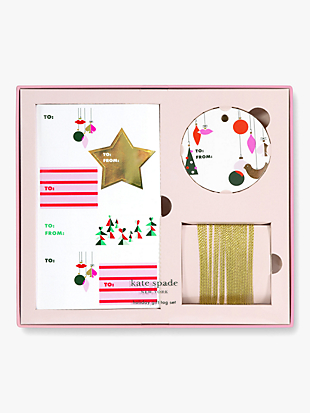 Kate spade holiday gift tag set