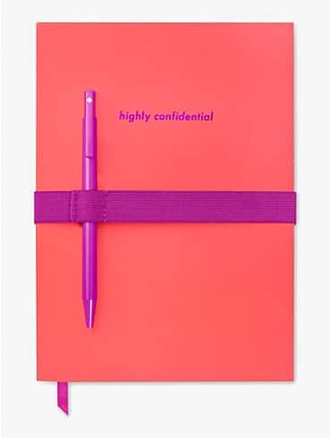 Highly Confidential Notizbuch mit Stift, , rr_productgrid