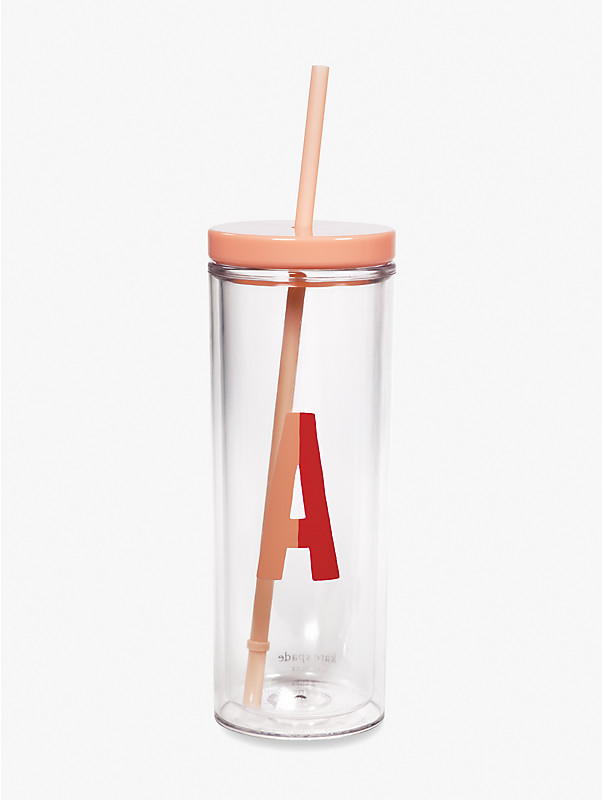 initial thermal tumbler with straw, , rr_large