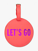 let's go luggage tag, , s7productThumbnail