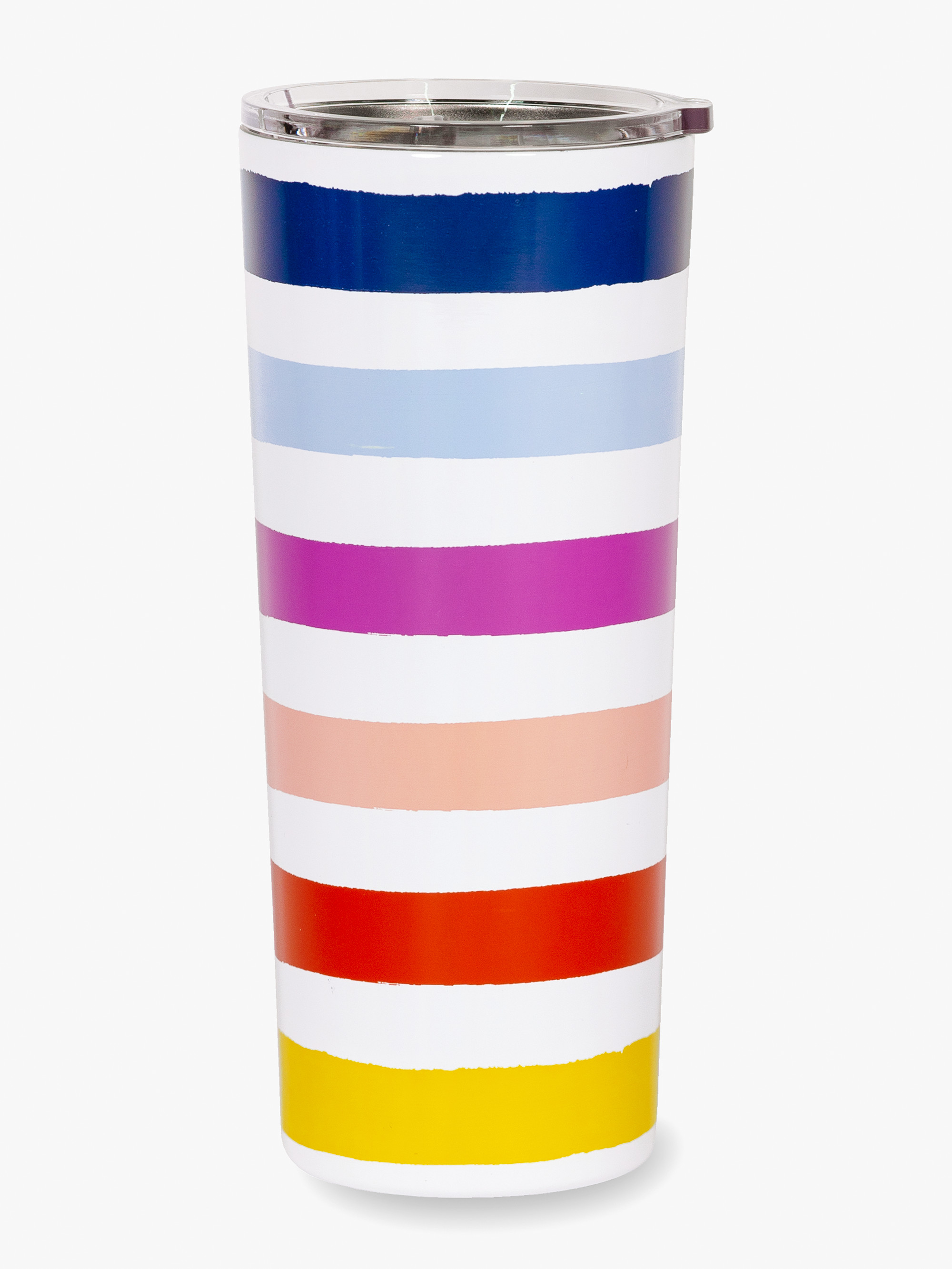 Kate spade candy stripe stainless steel tumbler