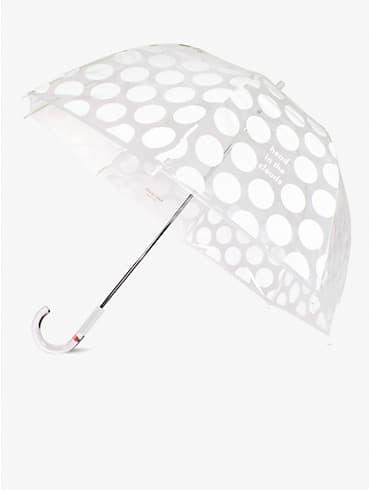 Head In The Clouds Jumbo Dot Regenschirm, transparent, , rr_productgrid