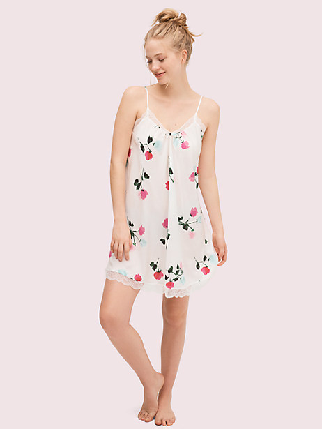 watercolor rose chemise, floral print, large by kate spade new york