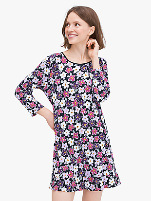 painted pansy sleepshirt by kate spade new york non-hover view