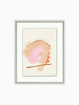pink and copper print, Pink, copper, white, medium