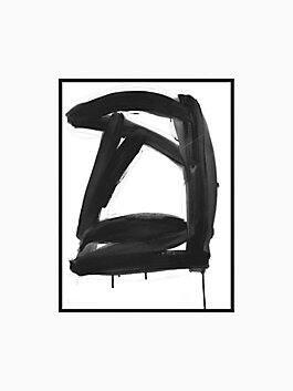 ink abstract print, Black, white, medium