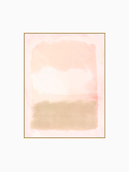 blush color field print, Pink, Brown, White, medium