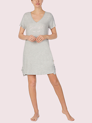 wink short sleeve sleepshirt by kate spade new york non-hover view