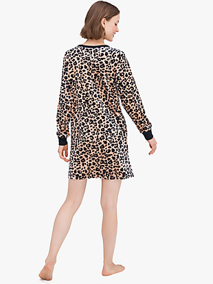 painted leopard sleepshirt by kate spade new york hover view