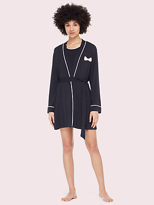 jersey blend bow robe by kate spade new york non-hover view