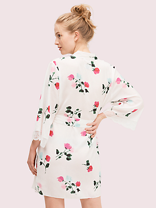 watercolor rose robe by kate spade new york hover view