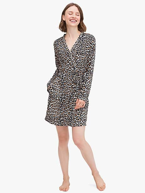 leopard robe by kate spade new york