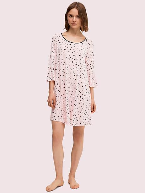 scatter dot sleepshirt, pink dot, large by kate spade new york