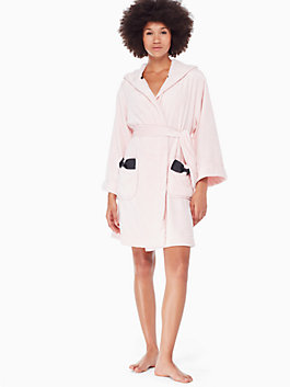 hooded bow robe, light pink, medium