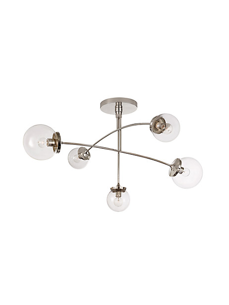 prescott large semi-flush chandelier by kate spade new york