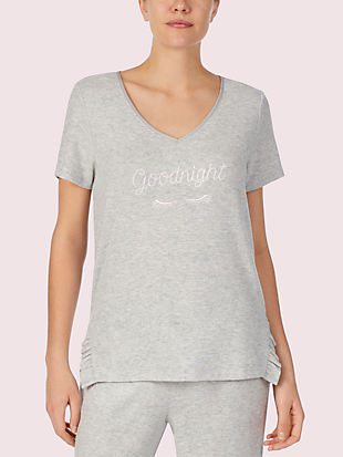 wink short sleeve lounge top by kate spade new york non-hover view