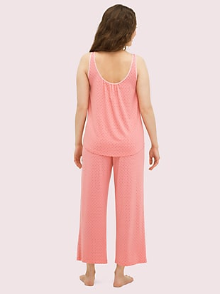 coral dot long pj set by kate spade new york hover view