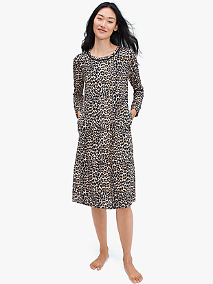 leopard sleepshirt by kate spade new york non-hover view
