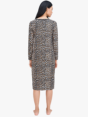 leopard sleepshirt by kate spade new york hover view