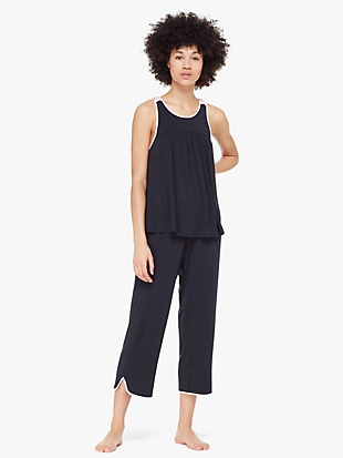 jersey blend sleeveless pj set by kate spade new york non-hover view